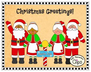 Clip art greetings from the north pole by kb konnected tpt clip art greetings from the north pole m4hsunfo