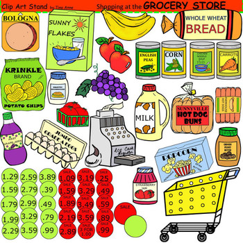 clip art grocery store by clip art stand by tina anne tpt rh teacherspayteachers com grocery clipart black and white grocery clipart free