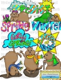 Clip Art: Groundhog Day Spring Winter Prediction by HeathersArtwork