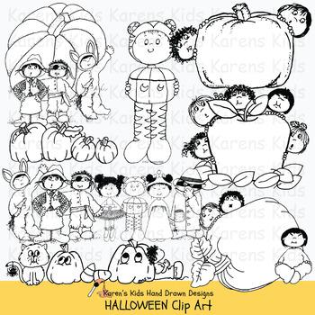 Clip Art HALLOWEEN KIDS