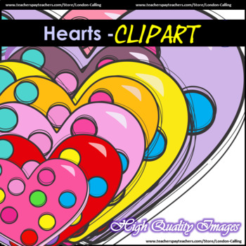 Clip Art - HEARTS for personal and commercial use