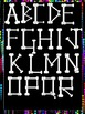 Clip Art~ Halloween Bones Alphabet