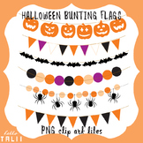 Clip Art: Halloween Bunting Flags and Banners CLIP ART