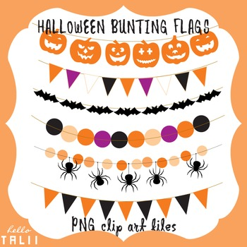 Clip Art: Halloween Bunting Flags and Banners