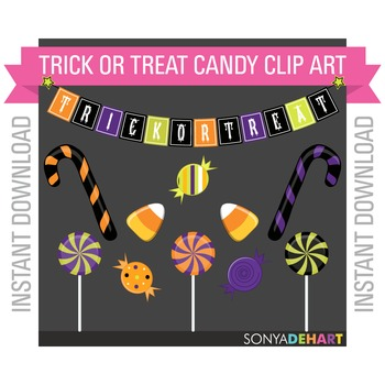 Clipart - Halloween Candy