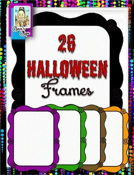 Clip Art ~ Halloween Frames - 500 Fantastic Followers Celebration