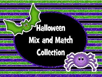 Clip Art - Halloween Glitter Mix and Match Collection