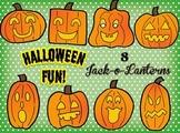 Clip Art~ Halloween Jack-o-Lanterns / Pumpkins