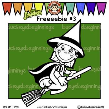 Clip Art Halloween Kid - FREE! Adorable Squishies