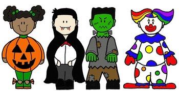 Clip Art~ Halloween Kids by Cara's Creative Playground | TpT