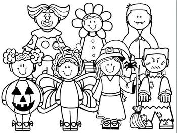 Clip Art~ Halloween Kids