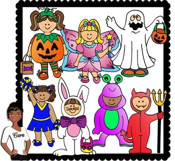 Clip Art~ Halloween Kids2