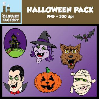 Clip Art: Halloween Pack - Miscellaneous Halloween themed clipart