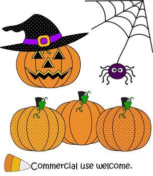 Clip Art - Halloween Polka-Dot Embellishments