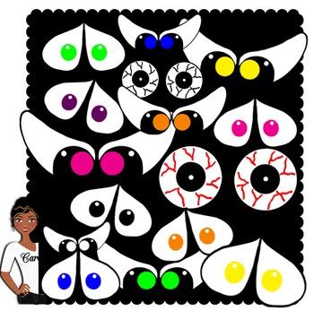 Clip Art~ Halloween Spooky Eyes