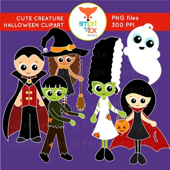 Clip Art Halloween Vampire Frankenstein Ghost Witch Creatu