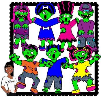 Clip Art~ Halloween Zombies