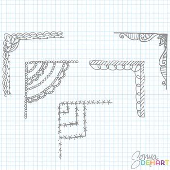 Clipart - Corner Frames