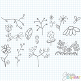 Clipart - Doodle Flowers FREEBIE
