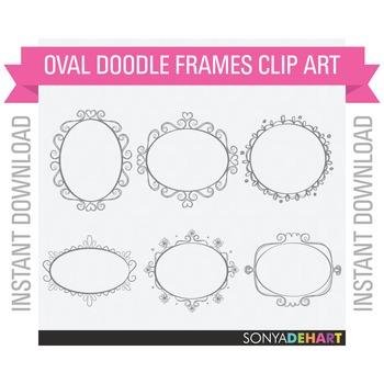Frames - Oval Doodle Frames