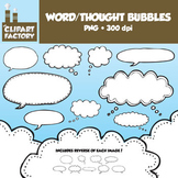 Clip Art: Hand Drawn Word/Thought Bubbles-18 Total bubbles