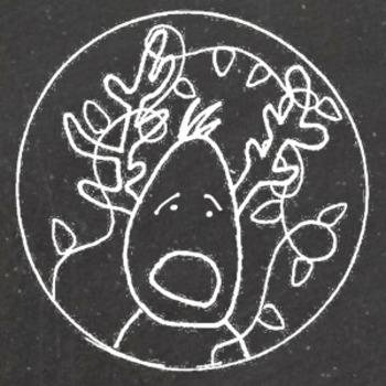 Clip Art: Chalkboard Christmas & Winter Snowmen & Reindeer