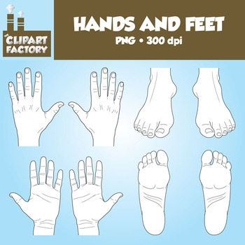Clip Art: Hands and Feet - Color & Black & White
