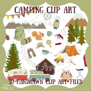 Clip Art: Happy Camper Clipart