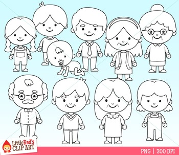 Family Clipart (B)