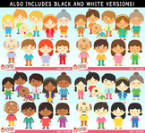 Family Clipart Bundle - blacklines included