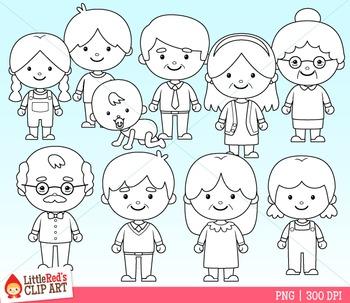 Family Clipart (D)