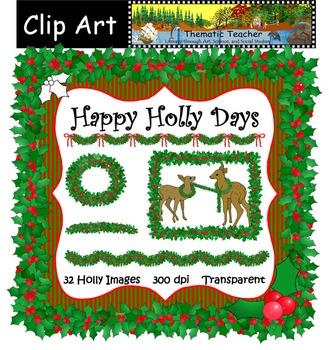 Clip Art:  Happy Holly Days