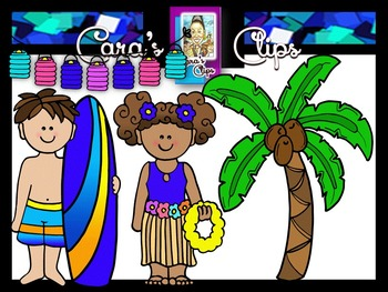 Clip Art~ Hawaiian Luau