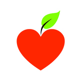 Clip Art: Heart Apple Image