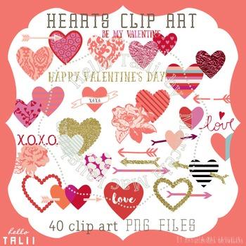 Clip Art: Hearts Clipart