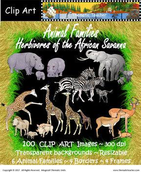 Clip Art  Herbivores of the African Savanna