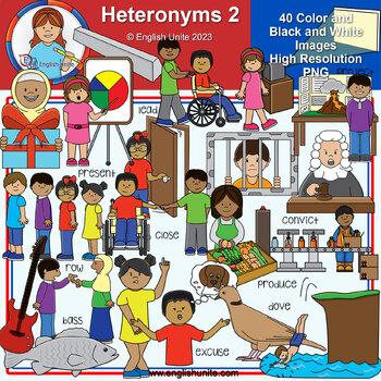Clip Art - Heteronyms 2