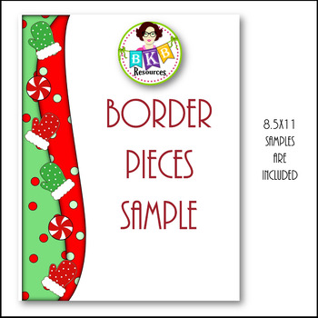 Clip Art ● Holiday Mint Cocoa Border Pieces ● Products for TpT Sellers