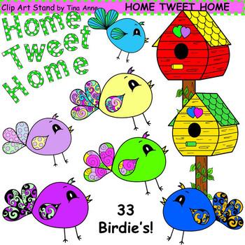 Clip Art Home Tweet Home