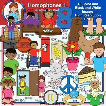 Clip Art - Homophones 1