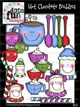 Clip Art: Hot Chocolate Buddies