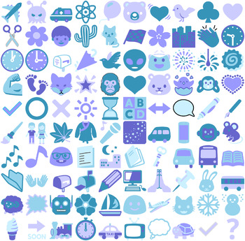 Clip Art Icons for Lesson Plans and Worksheets - Vector SVG files and PNGs