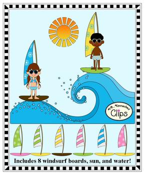 Clip Art - I'd rather be...Windsurfing!