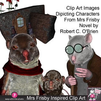 Clip Art Inspired By Mrs Frisby and the Rats of NIMH by Robert C. O'Brien