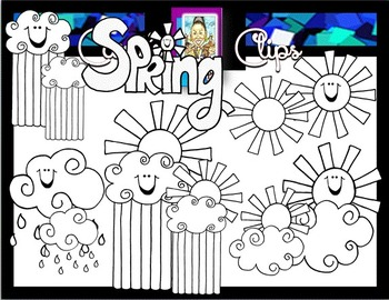 Clip Art~ It's Springtime Baby!
