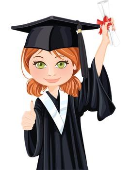 Clip Art - JOHANNA - female, girl, student, digital graphics - graduation