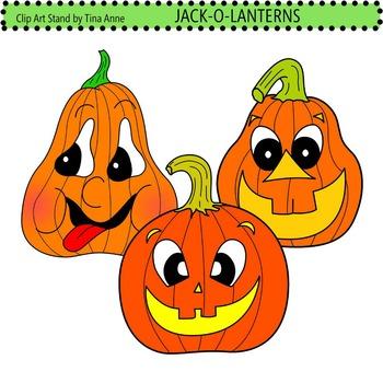 Clip Art Jack-O-Lanterns