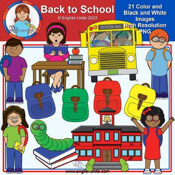 Clip Art - January Freebie (Back to School)