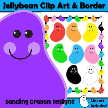 Jelly Beans Clip Art and Border / Frame