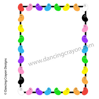 jelly beans clip art and border frame by dancing crayon designs rh teacherspayteachers com jelly bean clipart black and white jelly bean clip art free download